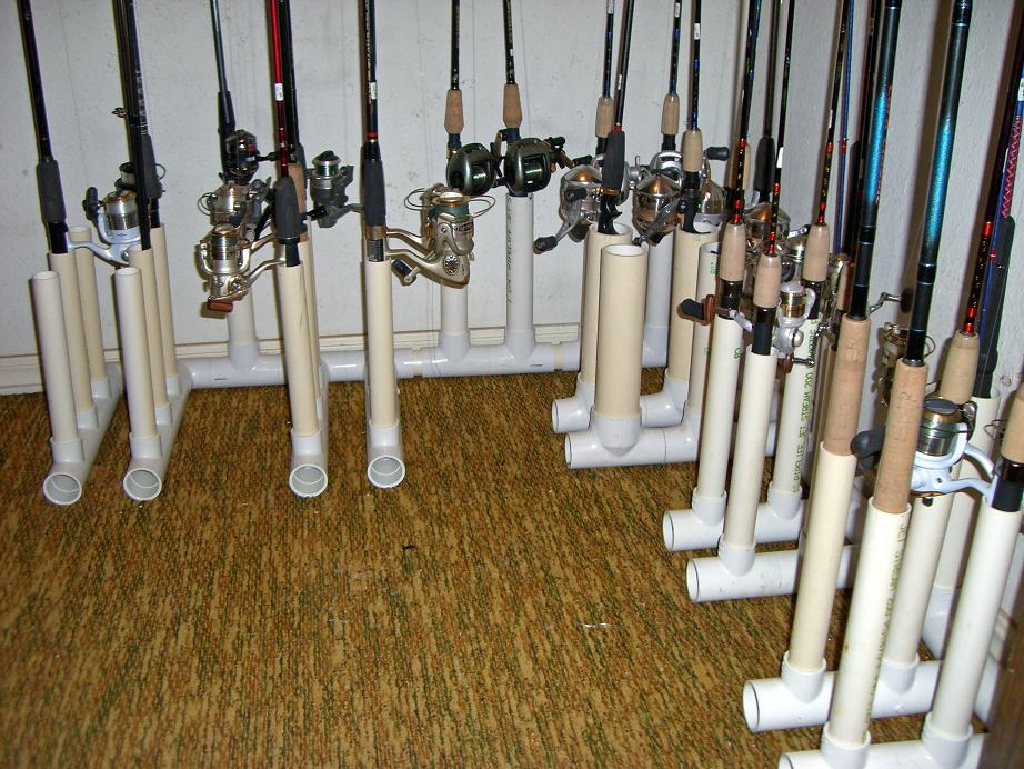 Make fishing rod rack image search results for How to make a fishing pole holder